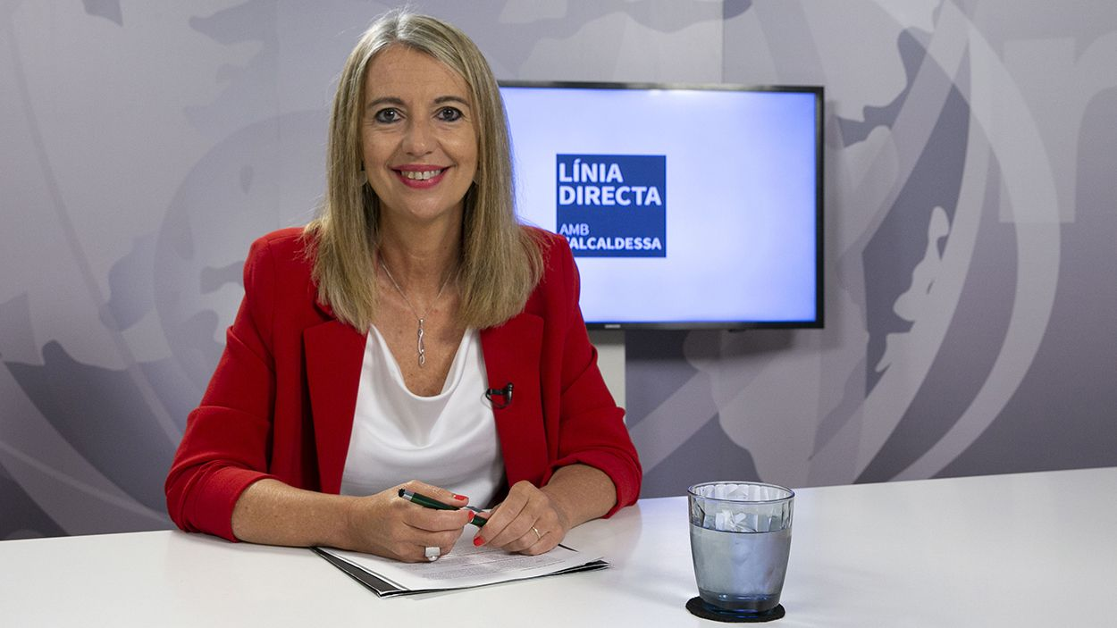 Imatge d'arxiu de Mireia Ingla al plató de Cugat Mèdia / Foto: Cugat Mèdia (Lluís Llebot)