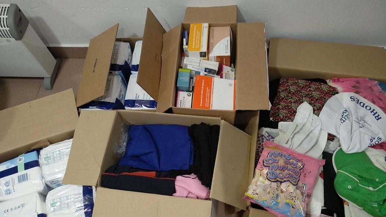Una mostra dels paquets que Alexandra Medina envia a Veneçuela / Foto: cedida