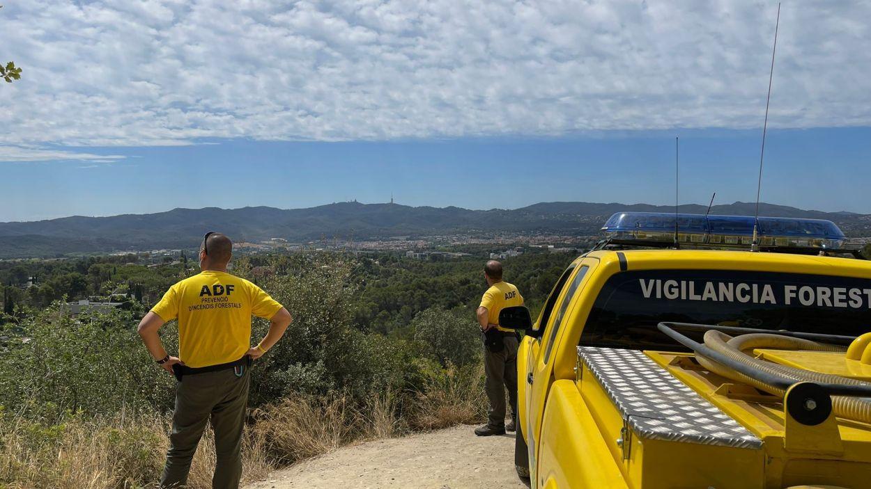 Sant Cugat es troba en risc alt d'incendi forestal
