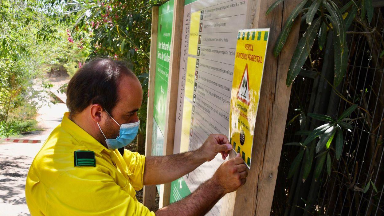 ADF recorda la recomanació de no accedir als boscos de Sant Cugat / Foto: Localpres - Ajuntament