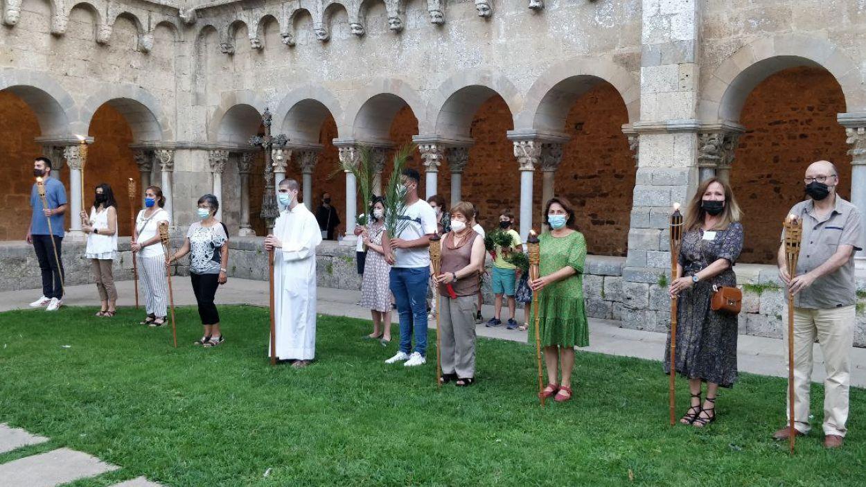 L'ofrena al màrtir posa punt final a la celebració de la Diada de Sant Cugat