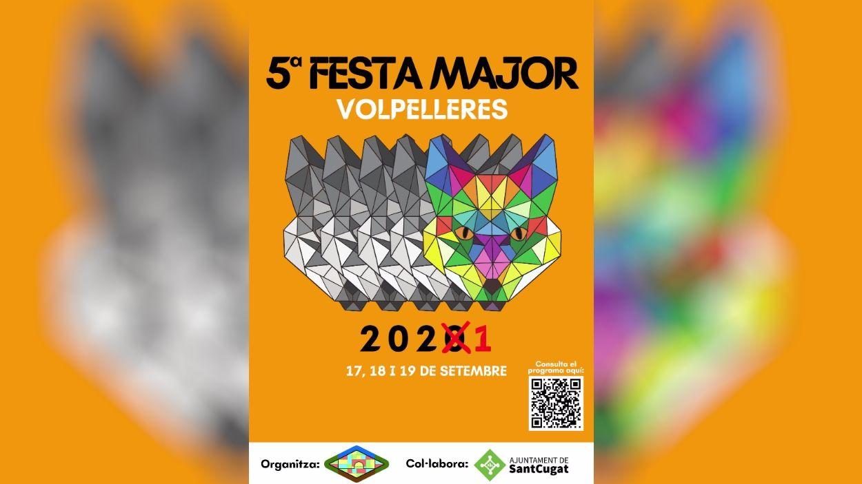 Cartell de la Festa Major de Volpelleres / Foto: AV Volpelleres