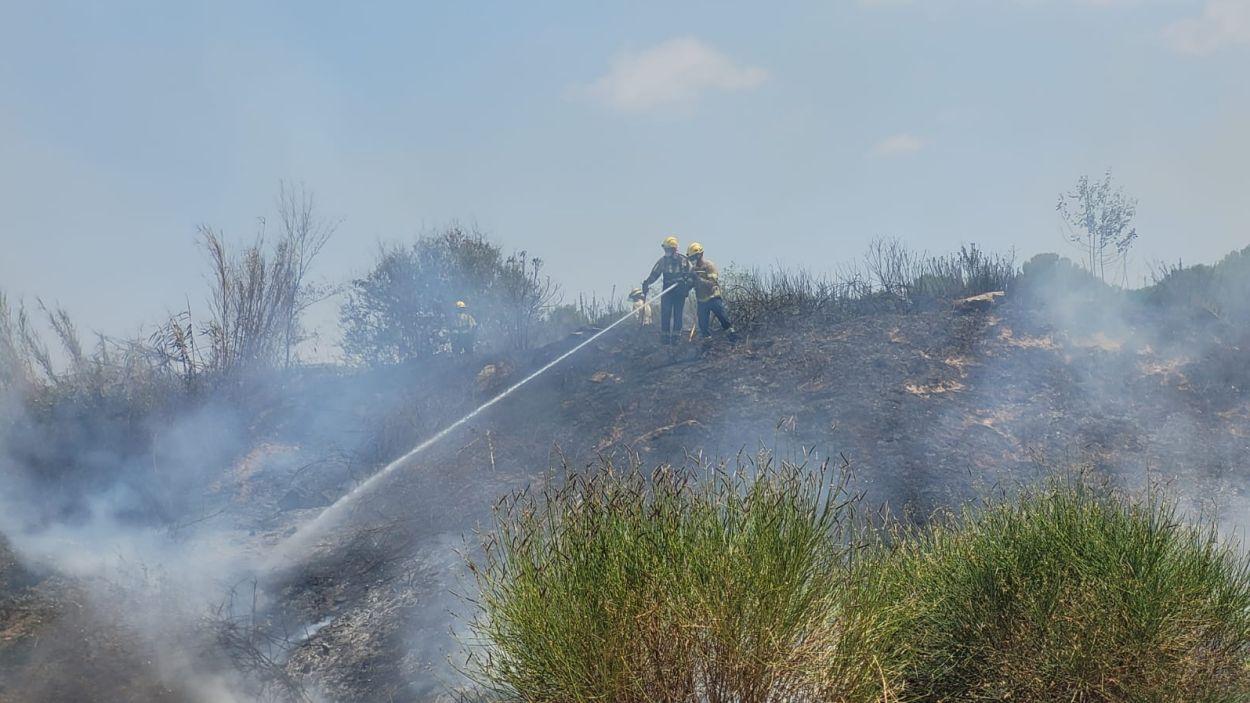 El foc ja està extingit / Foto: Ajuntament de Sant Cugat