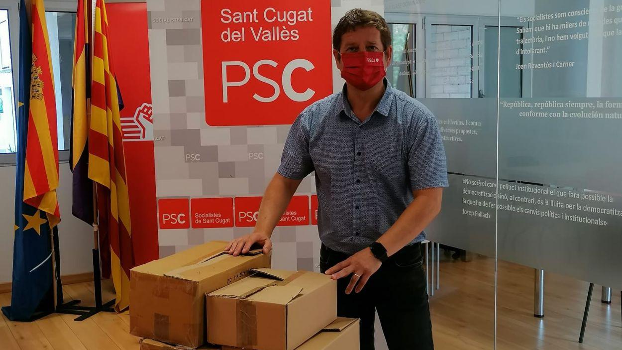 El primer secretari del PSC Sant Cugat, Pere Soler / Foto: PSC