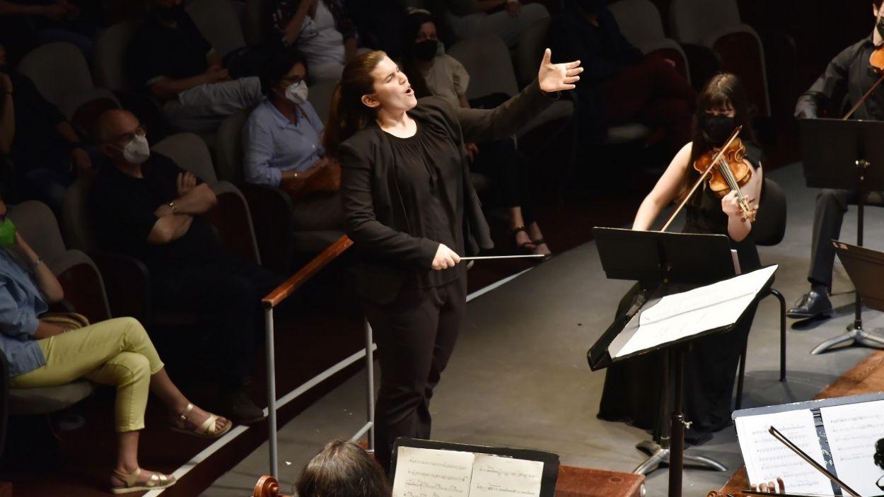 Ana Boixeda dirigeix el Cor Infantil de Sant Cugat i l'Aula Jazz Orquestra des del 2018 / Foto: Cedida