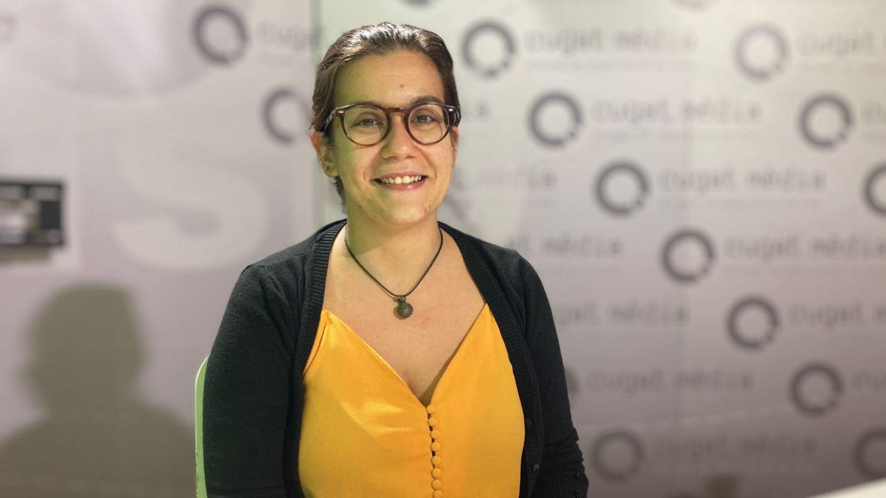 Esther Madrona als estudis de Cugat Mèdia / Foto: Cugat Mèdia