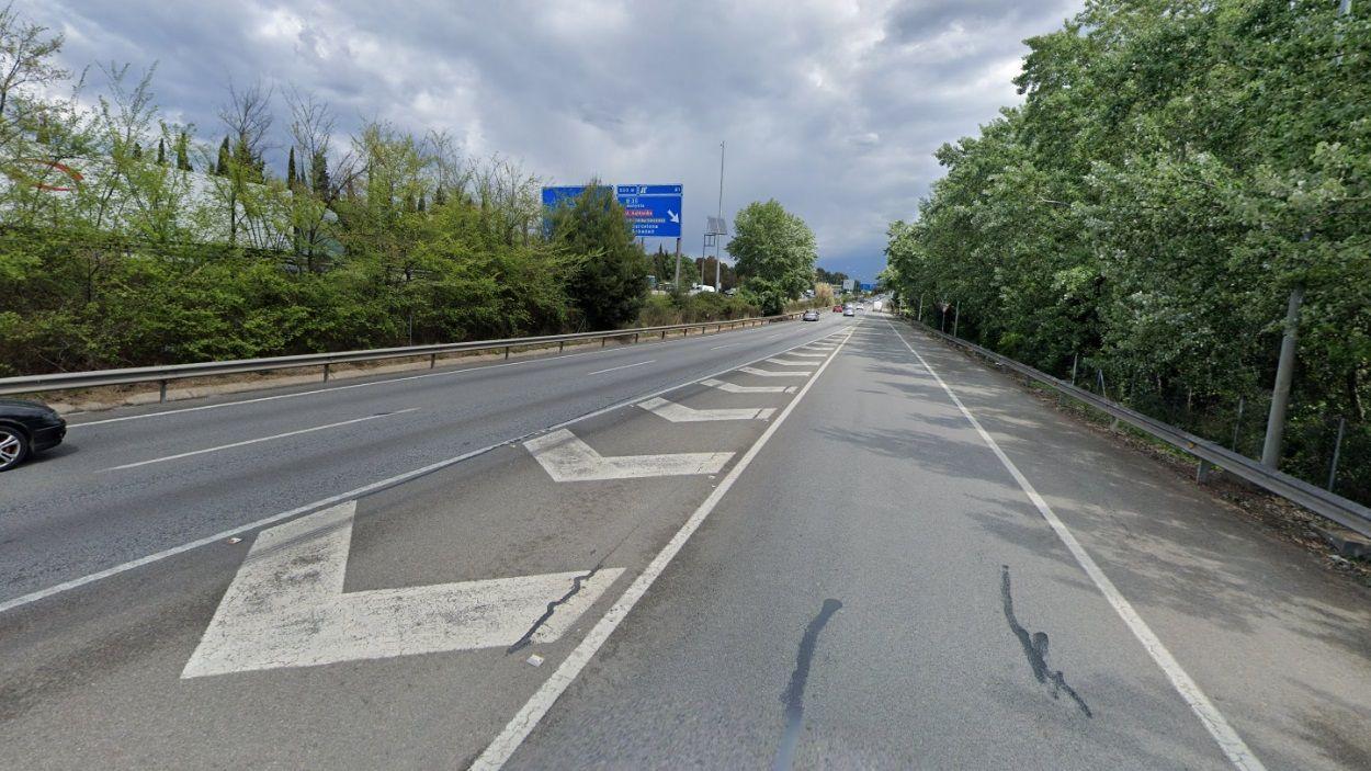 L'accident ha tingut lloc a la B-30 a Sant Cugat / Foto: Google Maps