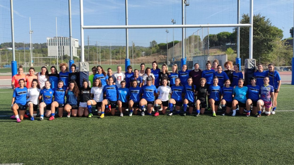 Plantilla del Club Rugby Sant Cugat / Foto: Cugat Mèdia