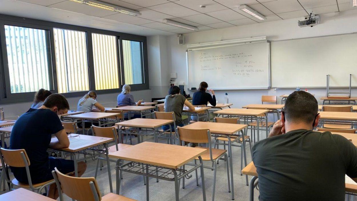 Moment de les proves, aquest dimecres a l'institut Leonardo da Vinci / Foto: Ajuntament de Sant Cugat