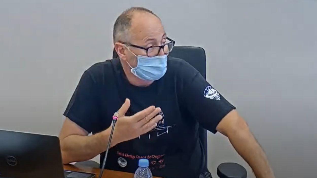 Ferran Margineda, vocal de la CUP-PC a la junta de veïns de Valldoreix / Foto: EMD Valldoreix
