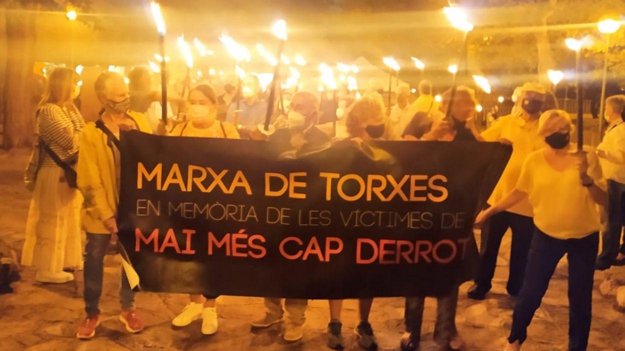 La capçalera de la Marxa de Torxes / Foto: Cugat Mèdia