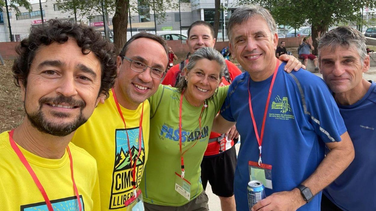 Damià Calvet, Josep Rull, Carmela Fortuny i Lluís Recoder han participat en la caminada / Foto: cedida
