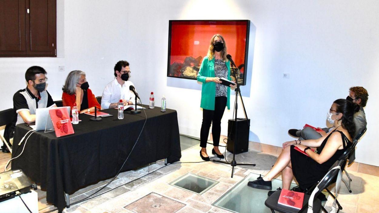 Jordi Garrido, Esther Grau, Àlex Mitrani i Mireia Ingla durant la presentació / Foto: Localpres