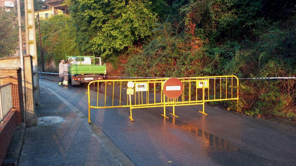 Imatge de l'incident a la Floresta / Foto: Ajuntament