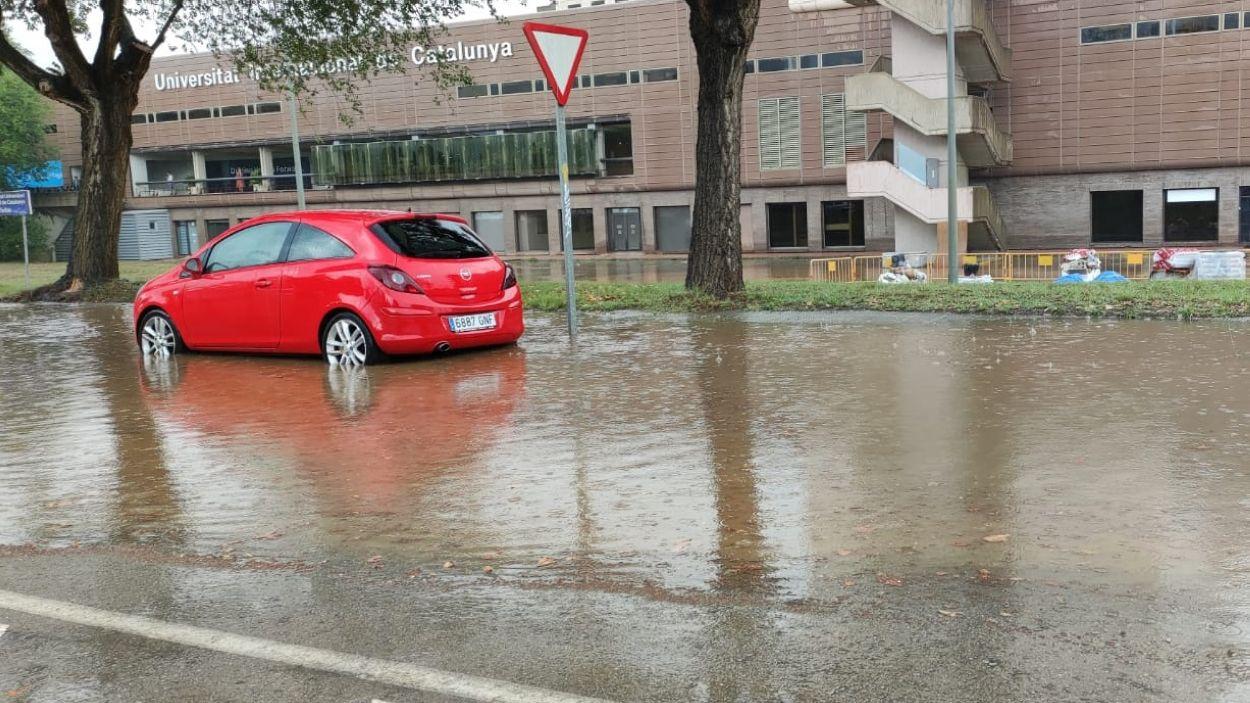 Els efectes de la pluja d'aquest dissabte 18 de setembre / Foto: Cugat Mèdia