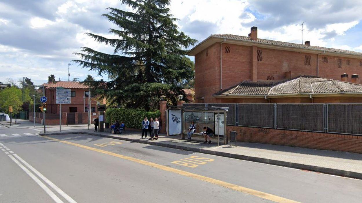 Imatge de la parada d'autobús del carrer dels Safareigs / Foto: Google Street