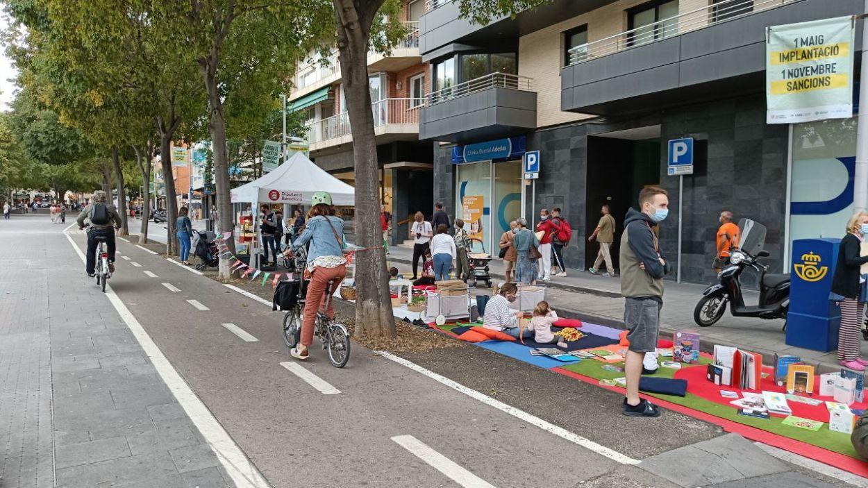 Activitats a la Rambla del Celler de Sant Cugat amb motiu del Dia Sense Cotxes / Foto: Cugat Mèdia