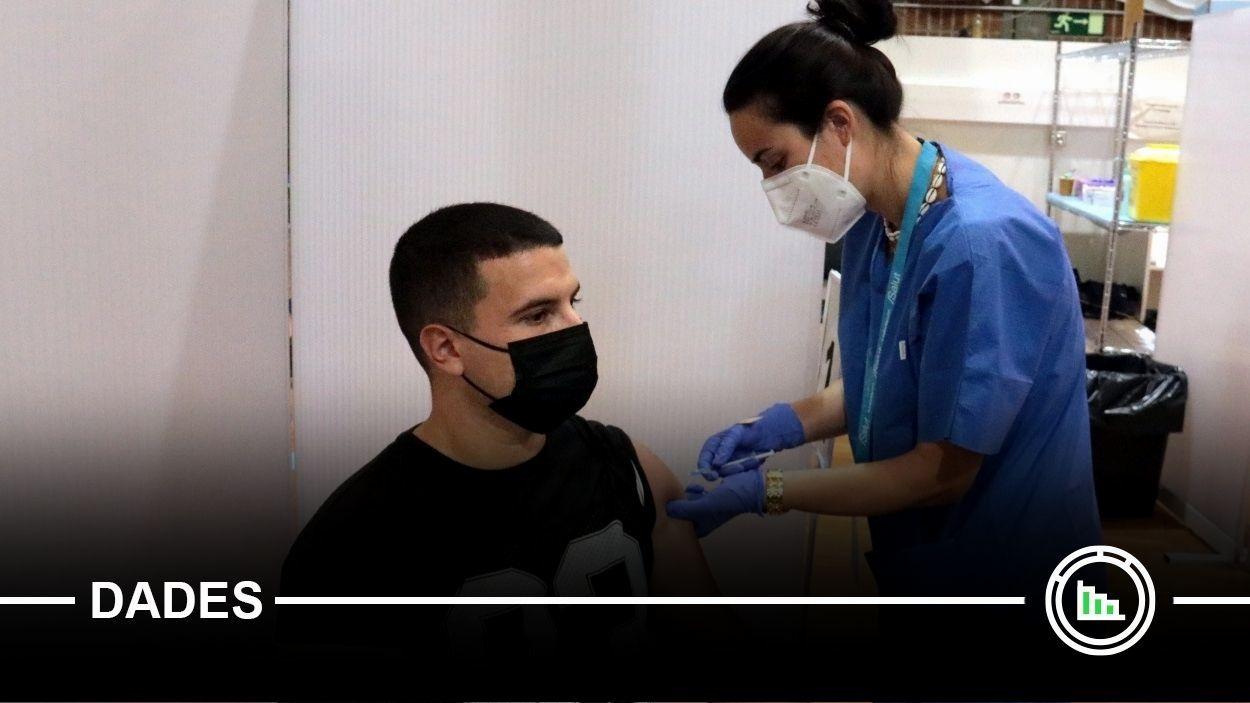 Imatge d'arxiu d'un jove vacunant-se contra la Covid-19 / Foto: ACN