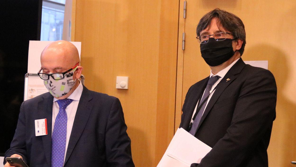 Carles Puigdemont i el seu advocat, Gonzalo Boye, en una imatge d'arxiu / Foto: ACN