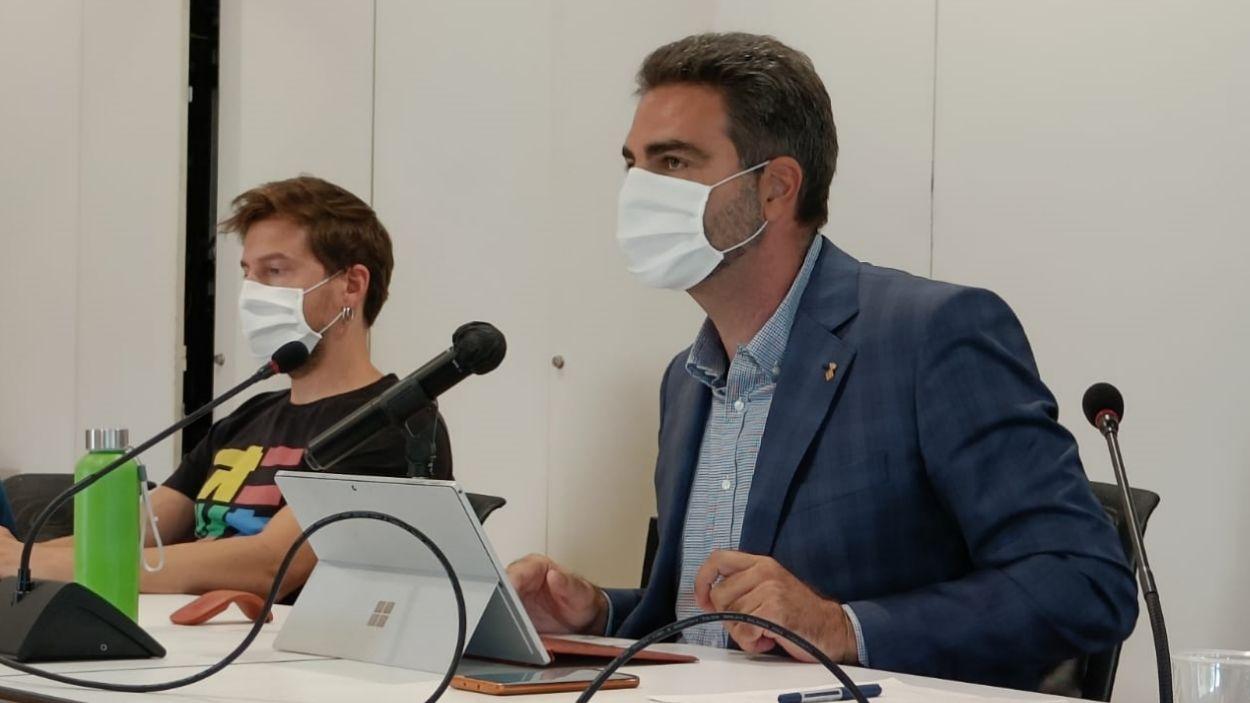 Aldo Ciprian (Cs) durant la seva intervenció al ple / Foto: Cugat Mèdia