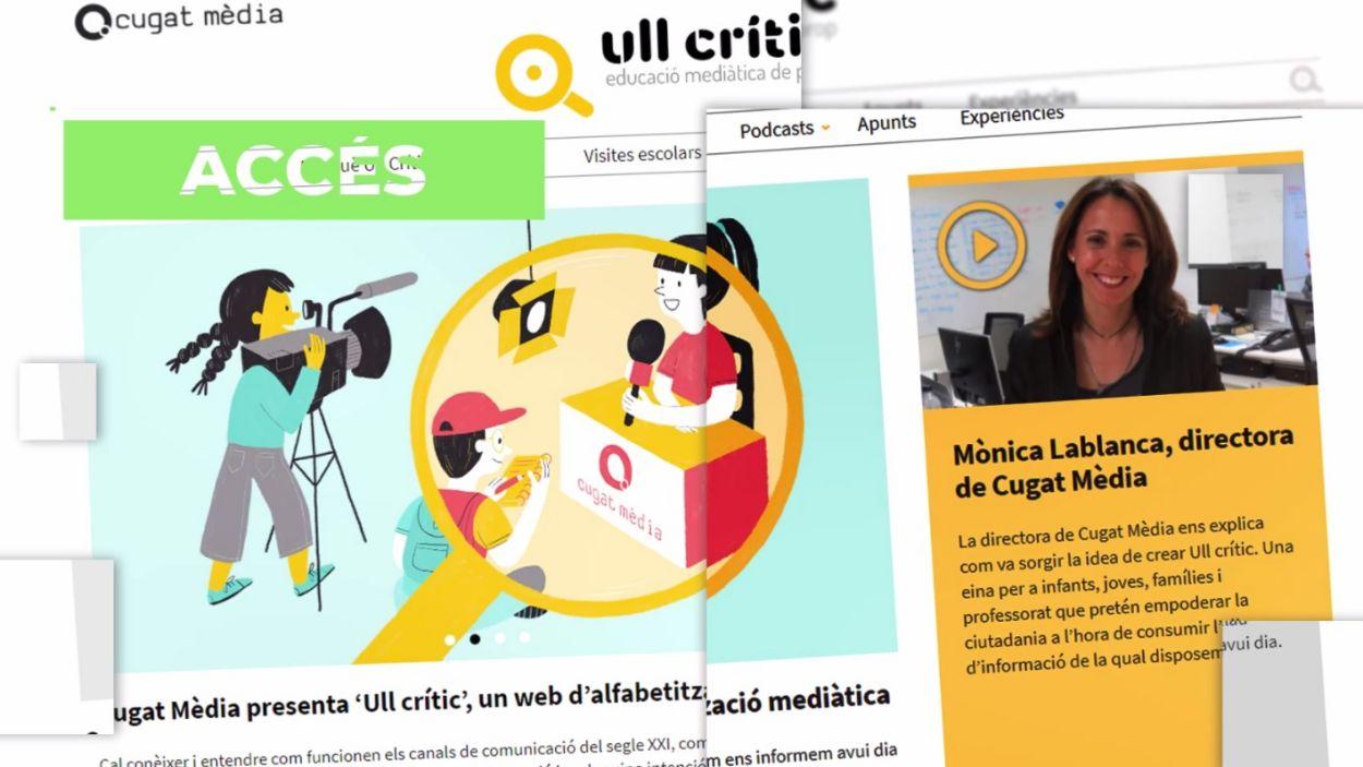 Un dels verticals de Cugat Mèdia és 'Ull Crític' sobre alfabetització mediàtica / Foto: Cugat Mèdia