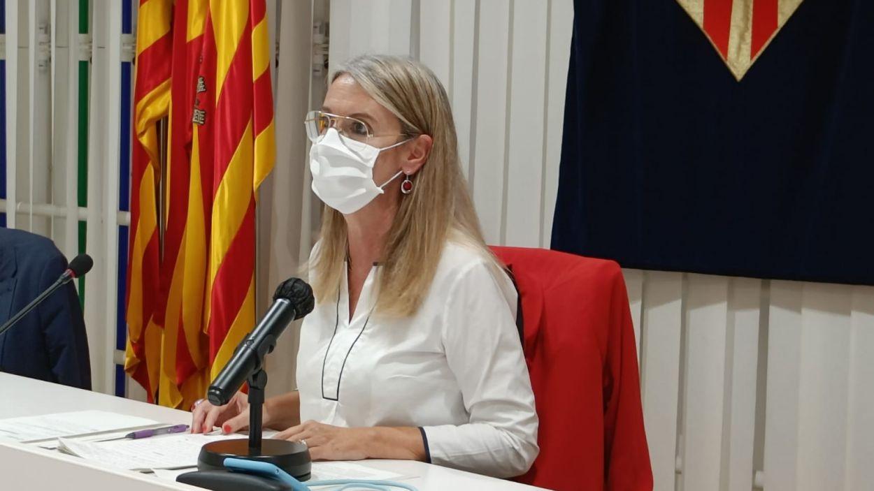 L'alcaldessa Mireia Ingla durant el ple de l'estat de la ciutat del 27 de setembre / Foto: Cugat Mèdia