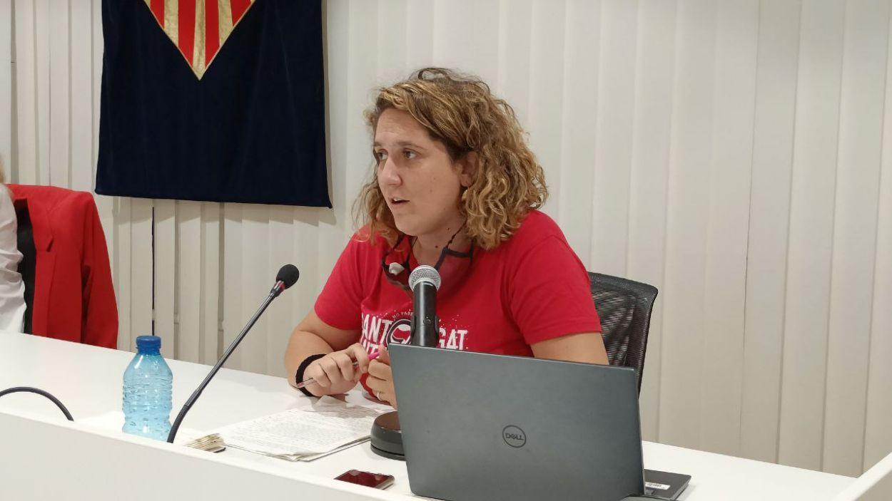 La portaveu de la CUP-PC i segona tinenta d'alcaldia, Núria Gibert / Foto: Cugat Mèdia