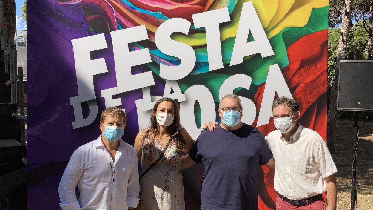 Pere Soler, Elena Vila, Jose Gallardo i Pablo Beceiro, a la Festa de la Rosa de Gavà aquest diumenge / Foto: @SolerPere