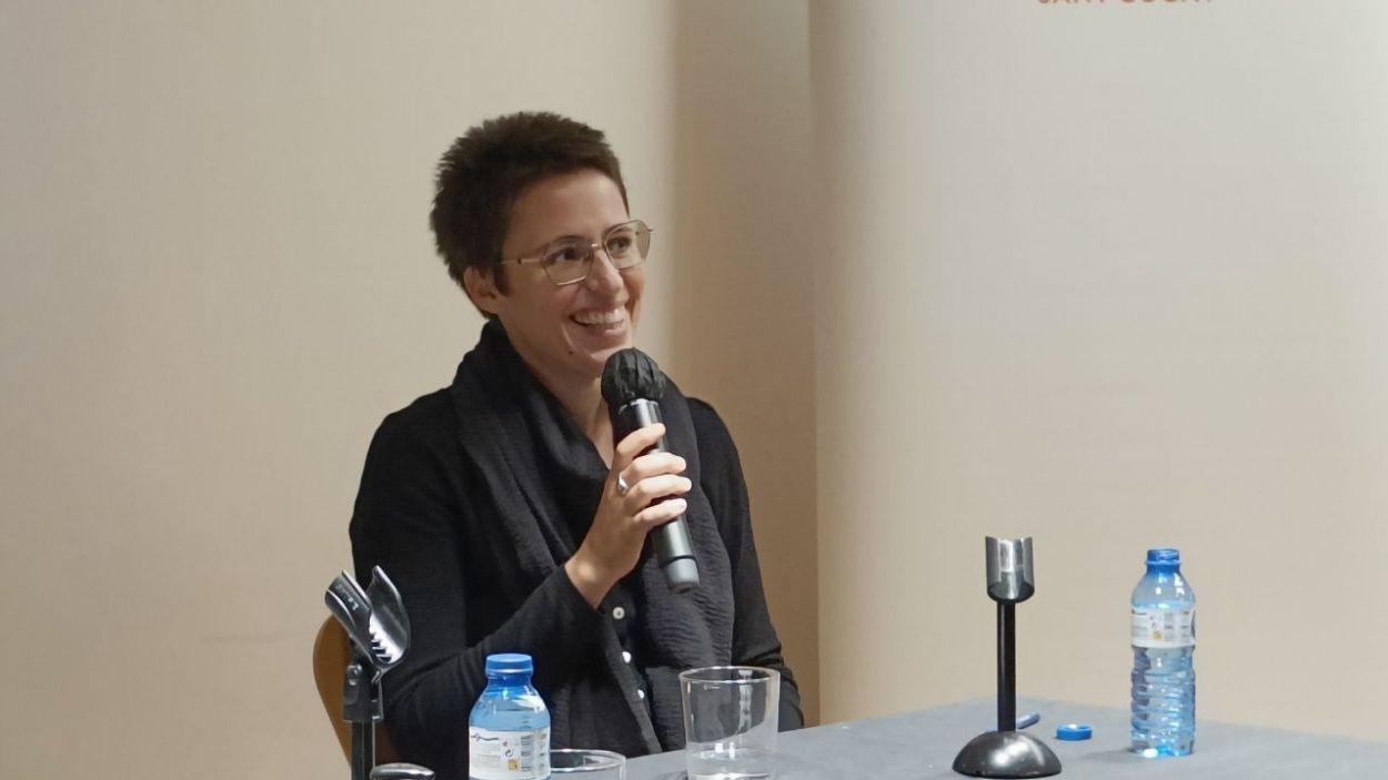 Eva Baltasar, aquest dijous a Sant Cugat / Foto: Cugat Mèdia