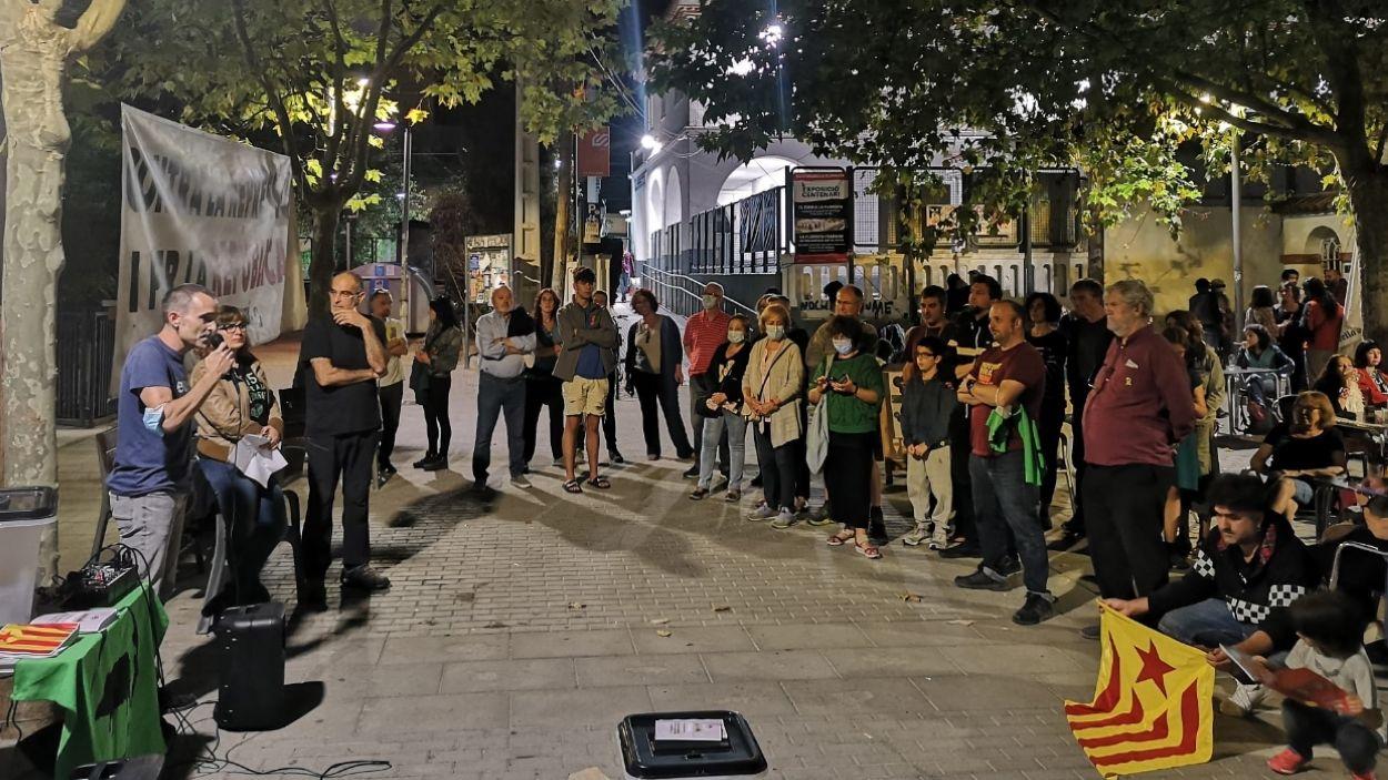 Imatge de la concentració a La Floresta / Foto: Cedida