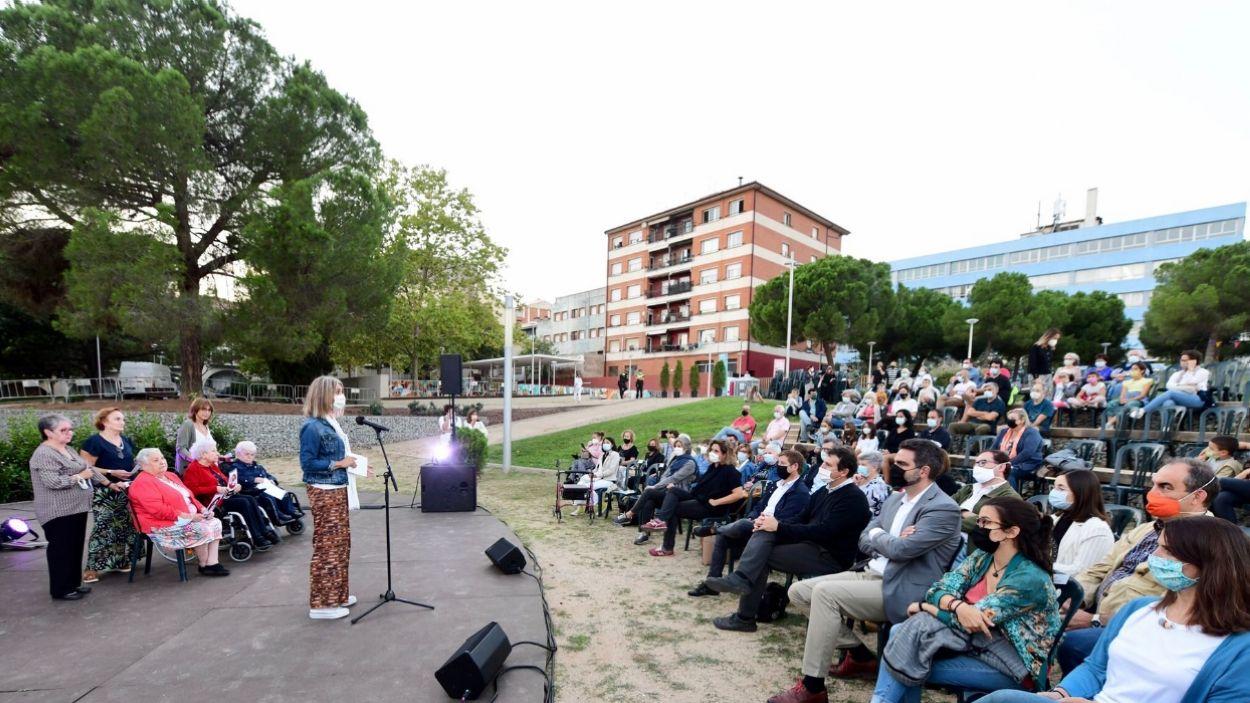 L'alcaldessa, Mireia Ingla, a l'acte del pregó / Foto: Localpres