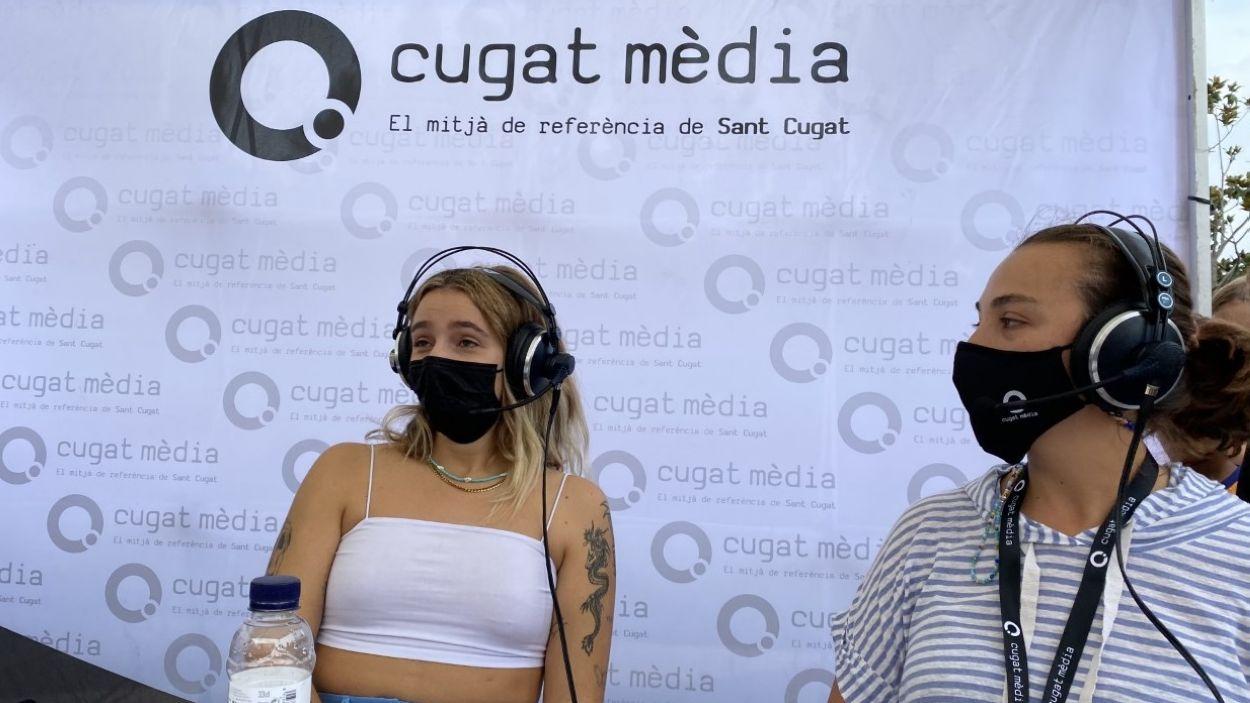 La cantant Suu, al programa de Cugat Mèdia d'aquest diumenge / Foto: Cugat Mèdia