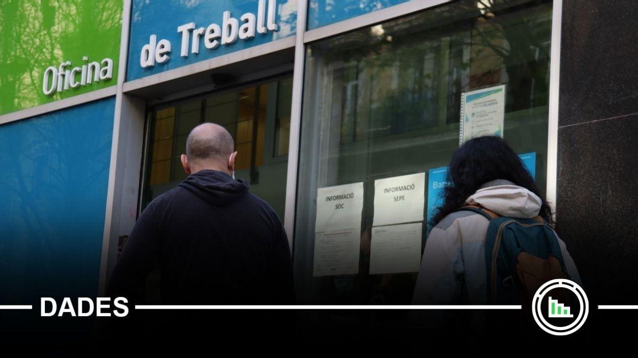 Imatge de l'entrada d'un local de l'Oficina de Treball / Foto: ACN