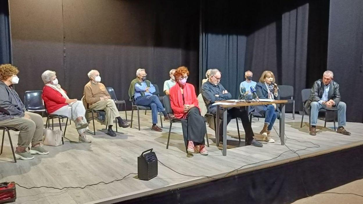 La roda de premsa ha tingut lloc a la Nau de Cultura de Valldoreix / Foto: Cugat Mèdia