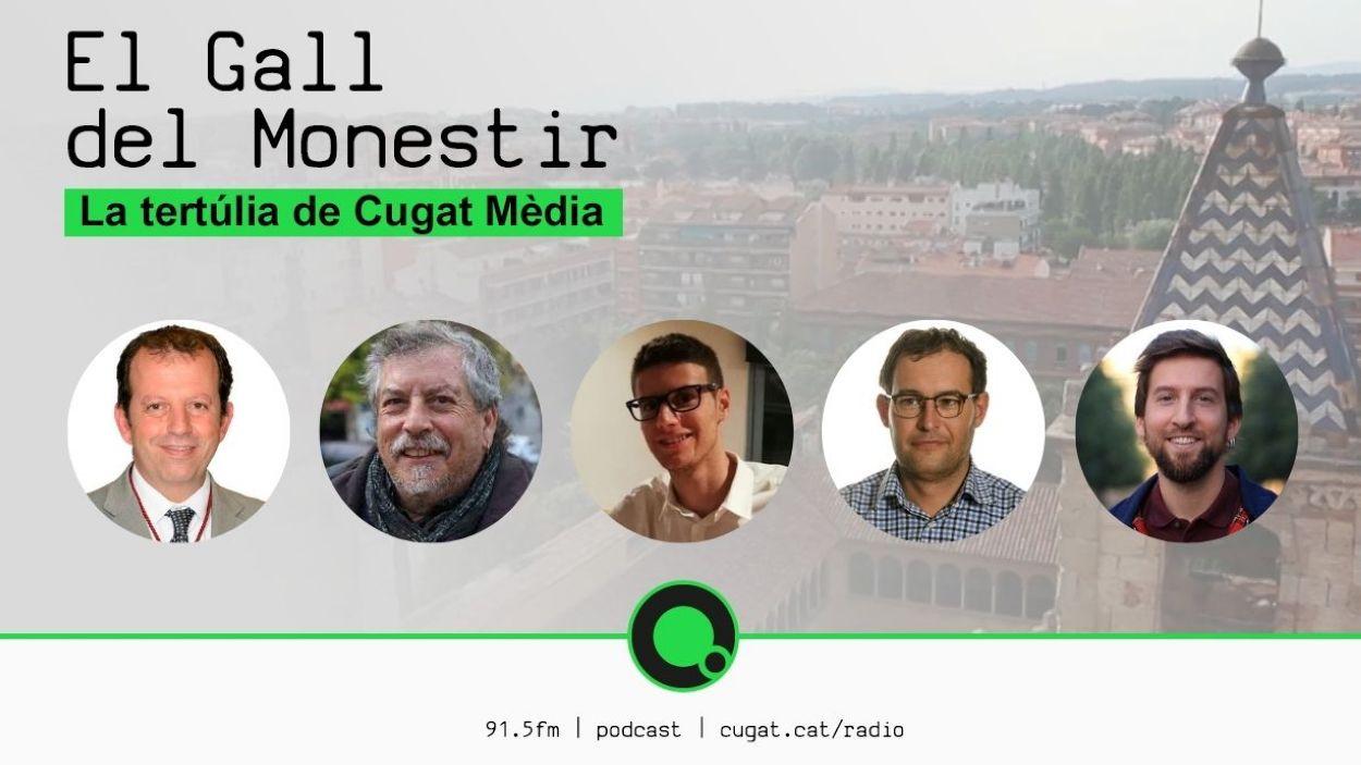 Carles Brugarolas (Junts), Francesc Osán (ERC-MES), Francesc Aguilà (PSC), Sergio Blázquez (Cs) i Marco Simarro (CUP-PC)