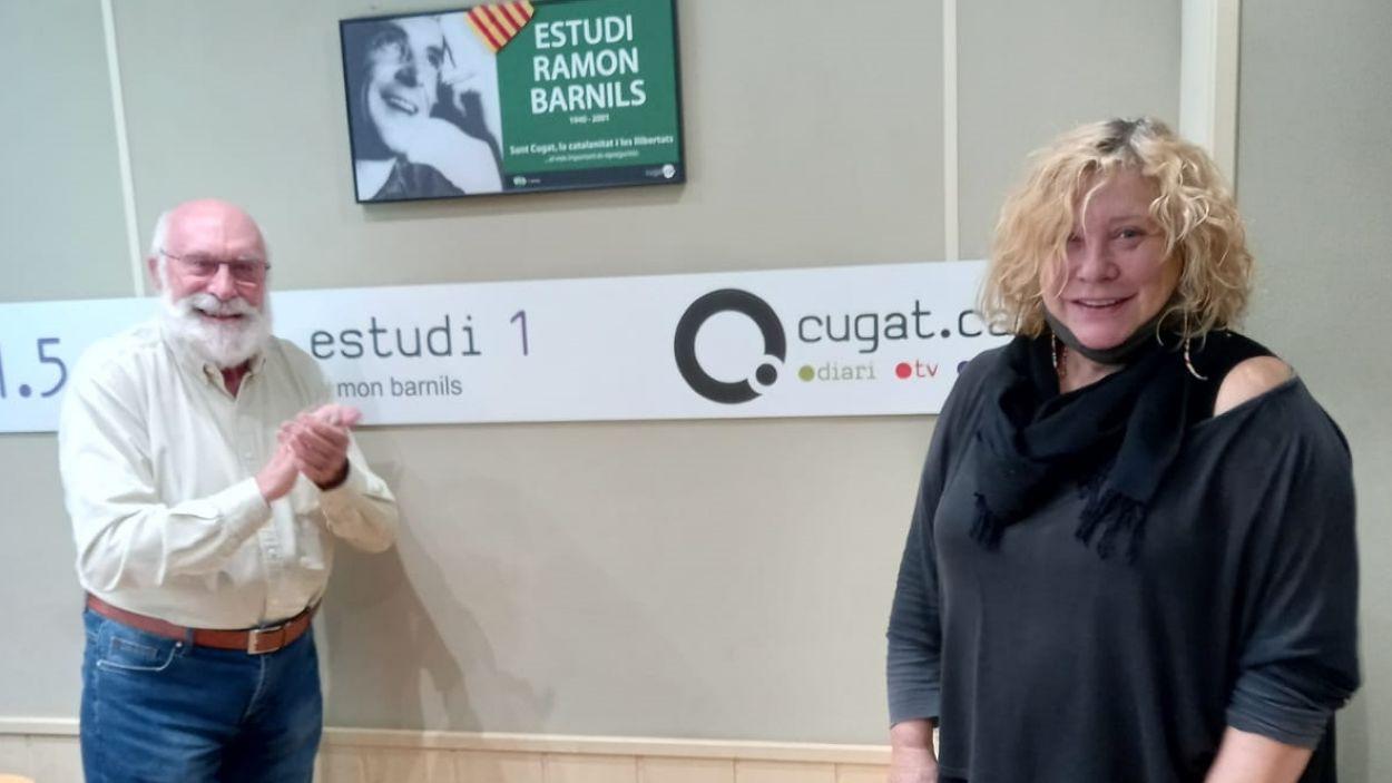 Eduard Jener i Mercè Arànega / Foto: Cugat Mèdia