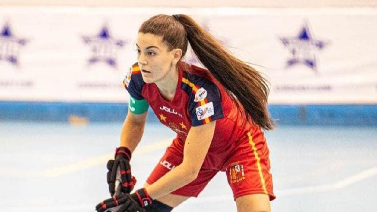 Dana Anton amb la selecció espanyola / Foto: David Valiente