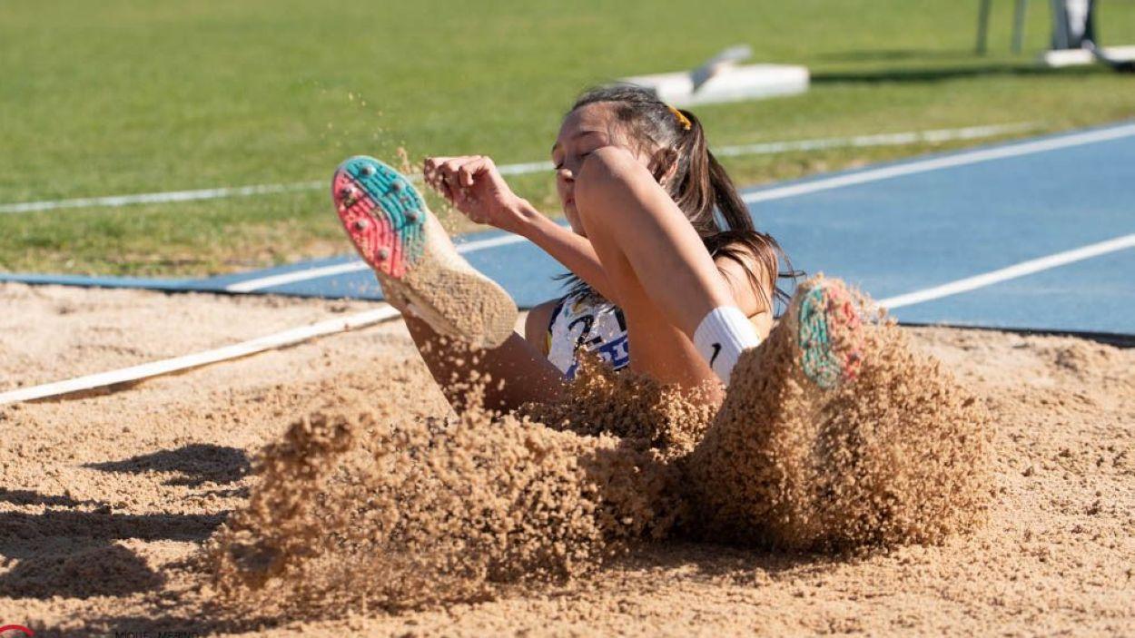 Elda Romeva durant el Campionat d'Espanya / Foto: Miquel Merino