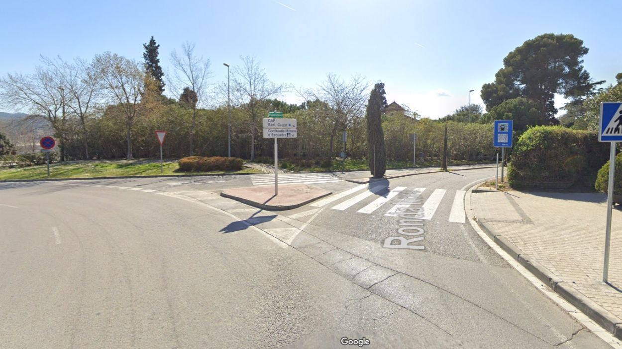 Inici del tram afectat / Foto: Google Maps