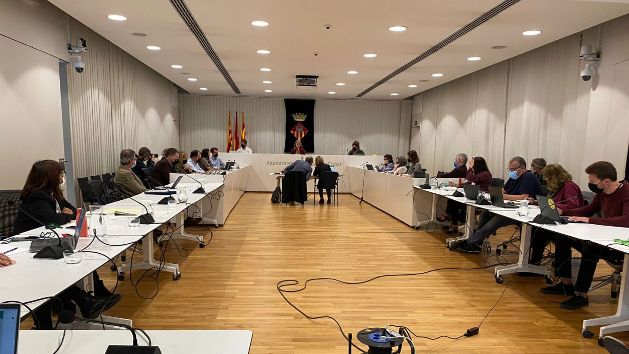 Imatge del ple municipal d'octubre / Foto: Cugat Mèdia
