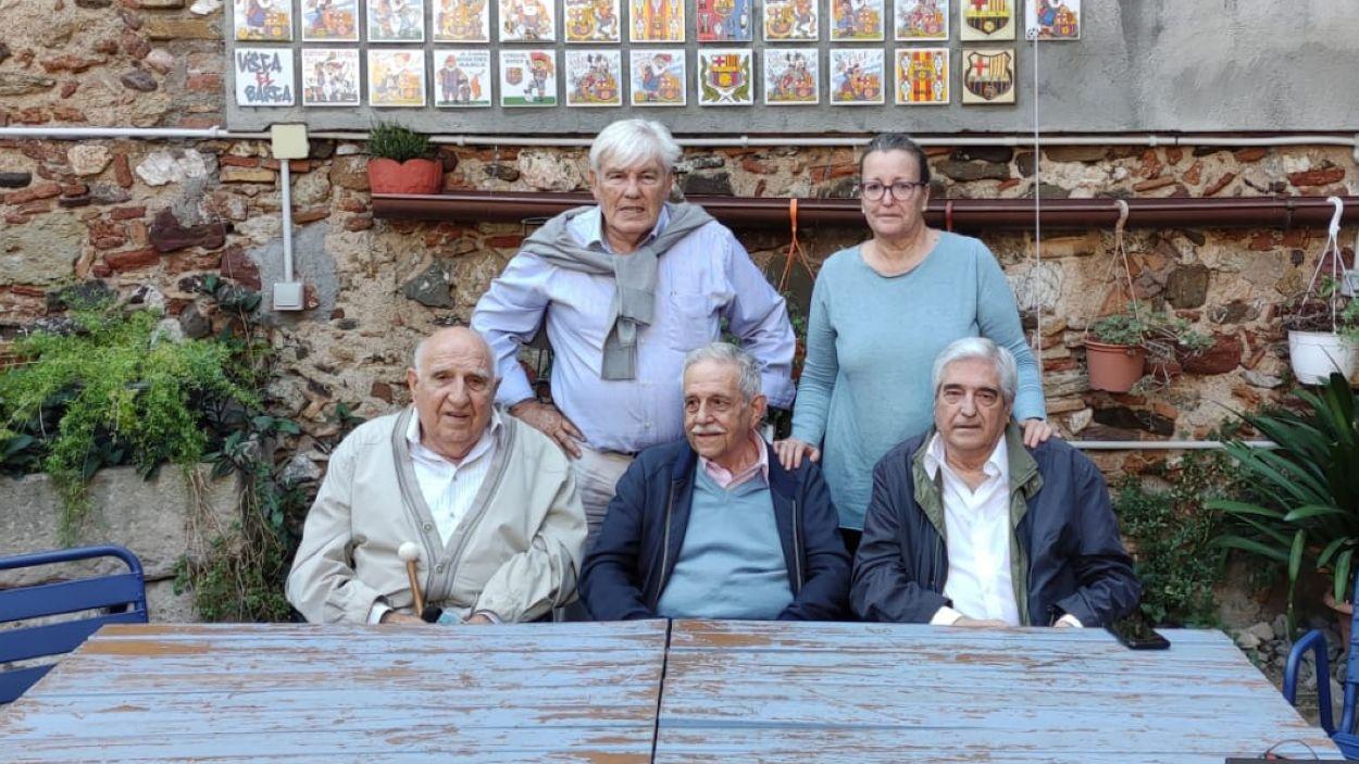 Imatge dels participants del col·loqui dels 42 anys de la Penya Blaugrana Sant Cugat / Foto: Cugat Mèdia