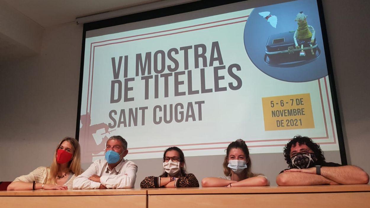 Un moment de la presentació de la Mostra de Titelles de Sant Cugat / Foto: Cugat Mèdia