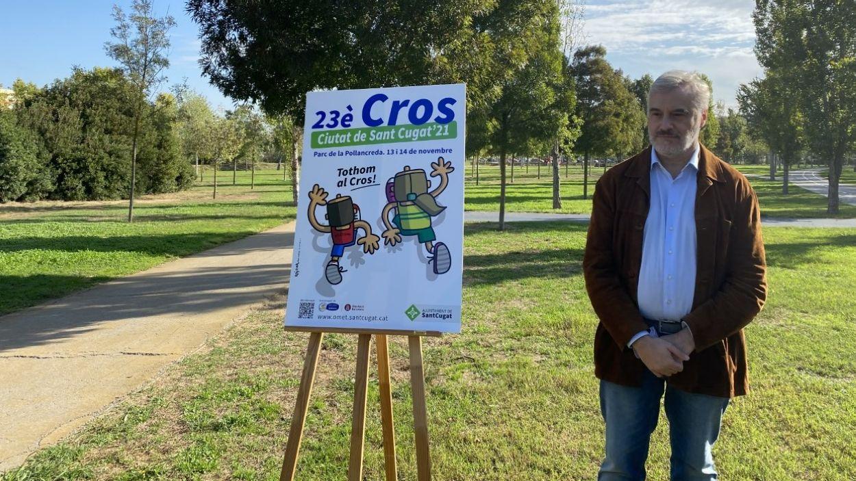 El regidor d'Esports, Francesc Carol, ha presentat la 23a edició del Cros / Foto: Cugat Mèdia