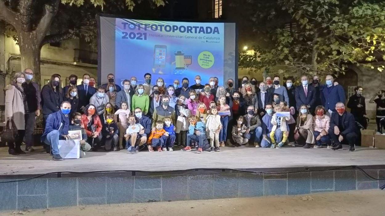 Foto de família amb els guanyadors i finalistes / Foto: Cugat Mèdia