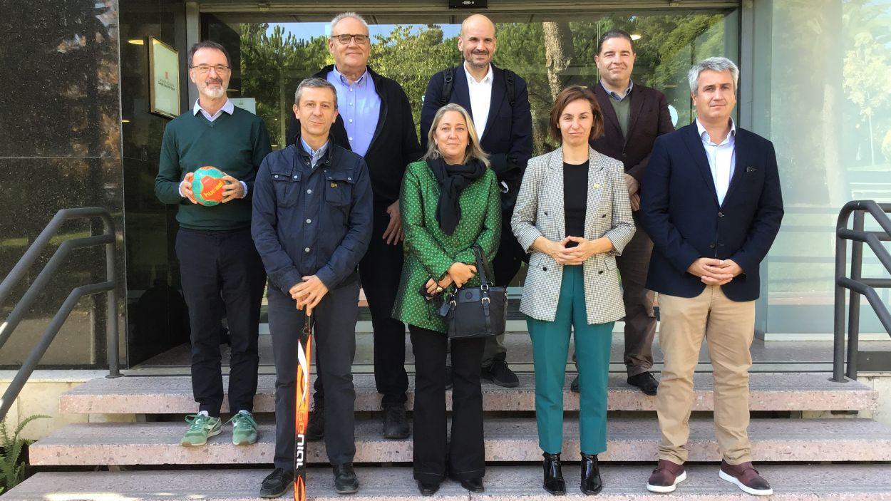 Presa de contacte entre SantCugatCreix i la secretària general de l'Esport de la Generalitat