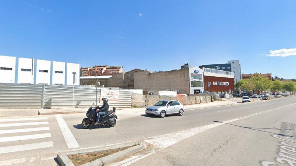 La benzinera s'ubicarà al carrer Cerdanya de Sant Cugat / Foto: Google Maps