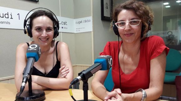 D'esquerra a dreta, Marta Uxan i Gisela Figueras