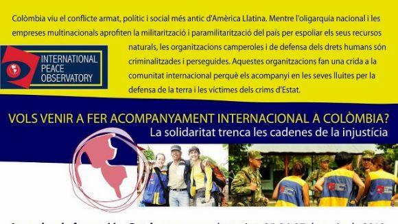 L'IPO organitza acompanyaments internacionals a Colòmbia / Font: International Public Observatory
