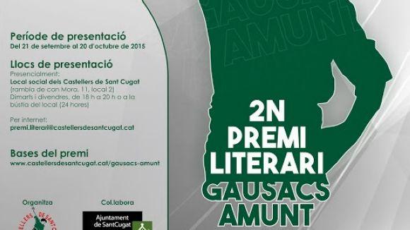 Els Gausacs amplien el termini per presentar propostes al concurs literari