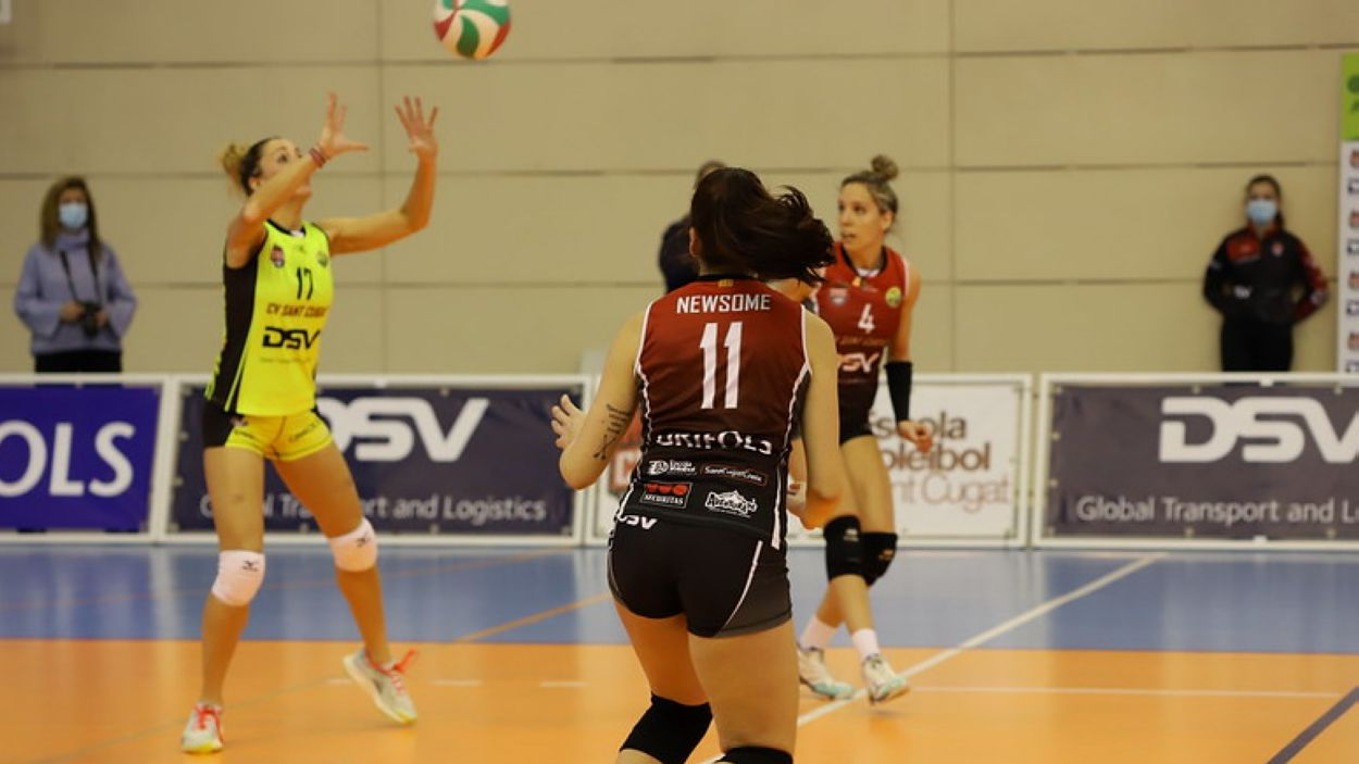 Imatge de la victòria davant el Cartagena / Font: DSV Voleibol Sant Cugat